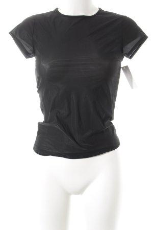 Calvin Klein Kurzarm-Bluse schwarz Elegant