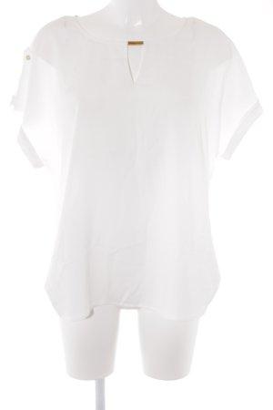 Calvin Klein Kurzarm-Bluse weiß Street-Fashion-Look