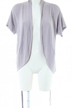 Calvin Klein Short Sleeve Knitted Jacket light grey business style