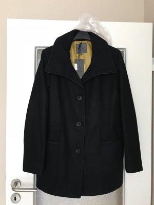 Calvin Klein Kurzmantel Jacke Wolle schwarz Gr. L 40 NEU