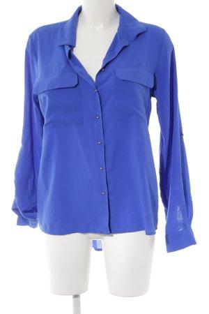 Calvin Klein Langarm-Bluse blau Elegant