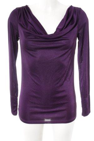 Calvin Klein Langarm-Bluse braunviolett Elegant