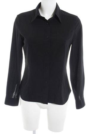 Calvin Klein Langarm-Bluse schwarz Business-Look