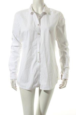 Calvin Klein Langarm-Bluse weiß klassischer Stil
