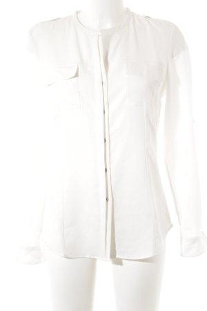 Calvin Klein Langarm-Bluse wollweiß schlichter Stil