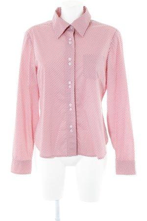 Calvin Klein Langarmhemd hellrosa-rosa Streifenmuster Casual-Look