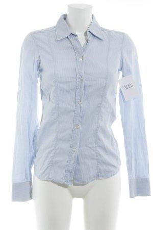 Calvin Klein Camisa de manga larga azul celeste estampado a rayas look casual