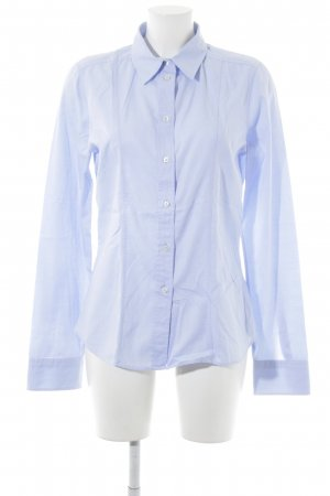 Calvin Klein Langarmhemd himmelblau-weiß Streifenmuster Casual-Look