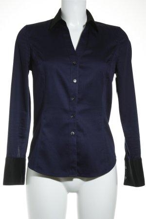 Calvin Klein Chemise à manches longues noir-bleu foncé style décontracté