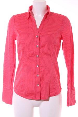 Calvin Klein Langarmhemd ziegelrot-wollweiß Streifenmuster Casual-Look