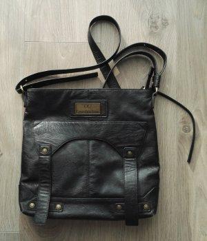 Calvin Klein Leder Damen Tasche schwarz