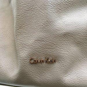 Calvin Klein Leder Handtasche mit Lammfellhenkel