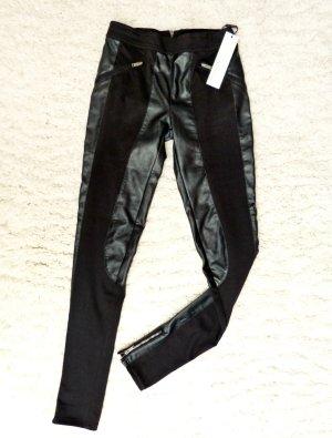 Calvin Klein Leder Leggings Jeggings Gr. 34 / XS NEU mit Etikett Schwarz Stretch