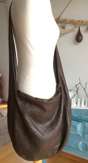 Calvin Klein Leder Tasche braun groß