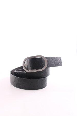 Calvin Klein Ledergürtel schwarz Schriftzug gedruckt Casual-Look