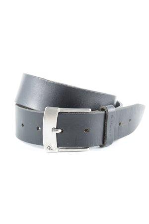 Calvin Klein Leather Belt black simple style