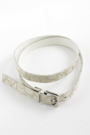Calvin Klein Leather Belt white-grey casual look