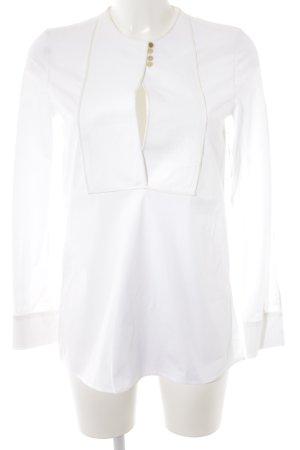 Calvin Klein Long-Bluse weiß-wollweiß Business-Look