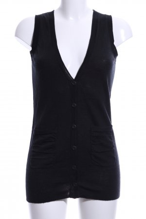 Calvin Klein Long Knitted Vest black casual look