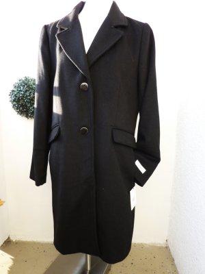 Calvin Klein Mantel Wollmantel Wintermantel Cashmere schwarz klassisch 42 44
