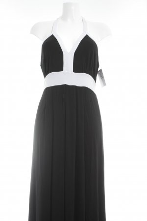 Calvin Klein Maxi Dress black-white color blocking casual look