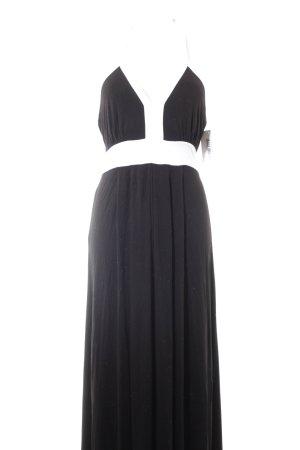 Calvin Klein Maxikleid schwarz-weiß Colourblocking Casual-Look