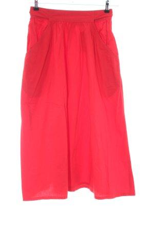 Calvin Klein Midi Skirt red casual look