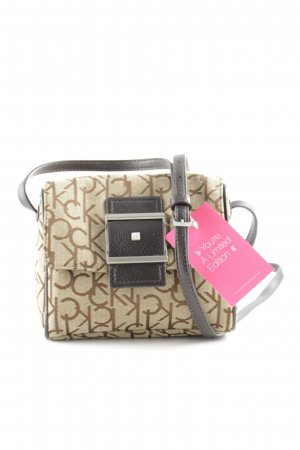 Calvin Klein Mini Bag beige-dark brown allover print casual look
