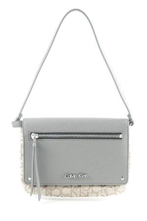 Calvin Klein Minitasche grau-beige Allover-Druck klassischer Stil
