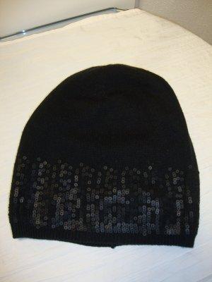 Calvin Klein Chapeau en tricot noir tissu mixte