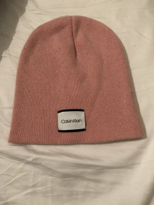 Calvin Klein Chapeau en tricot rose