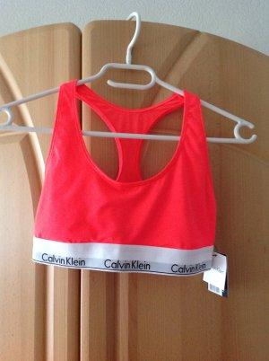 Calvin Klein Bustier Top red polyester