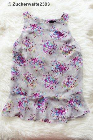 Calvin Klein Oberteil Grau mit Blumenmuster XS <3