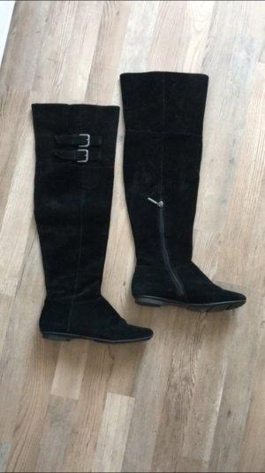 Calvin Klein overknee Stiefel 7,5 38 schwarzes leder