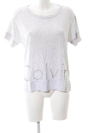 Calvin Klein Oversized Shirt hellgrau Motivdruck Casual-Look