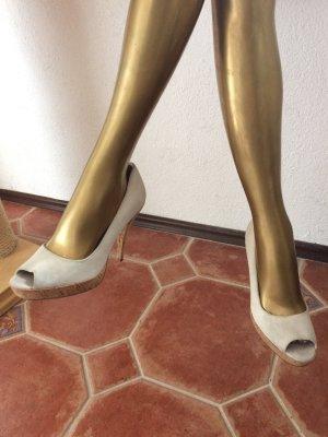 Calvin Klein Peep Toe Pumps licht beige