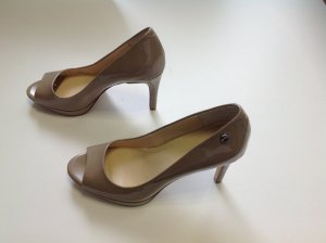 Calvin Klein Peeptoes in nude, Lackleder, Gr. 37, NEU