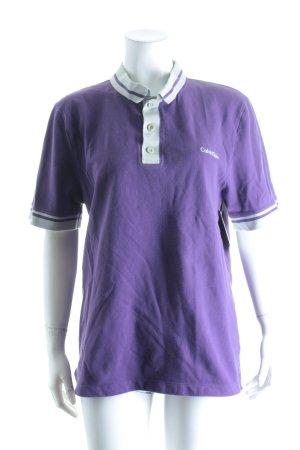 Calvin Klein Polo-Shirt lila-hellgrau Casual-Look