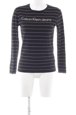 Calvin Klein Print-Shirt Streifenmuster Casual-Look