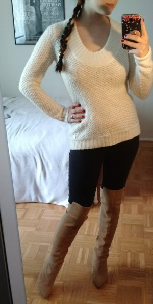Calvin Klein Pullover Gr. S 36 Pulli weiß winter warm Strick designer