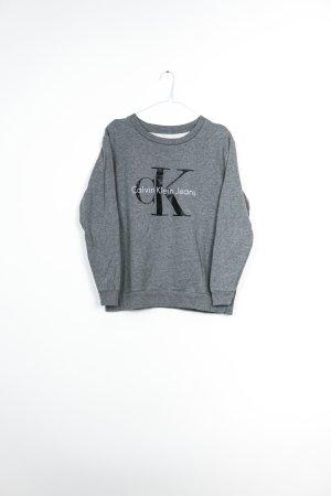 Calvin Klein Crewneck Sweater silver-colored cotton
