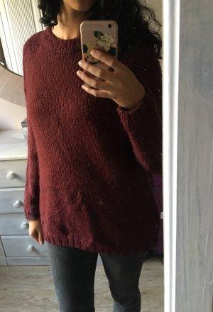 Calvin Klein Pullover Pulli weinrot Gr S-XL Oversize
