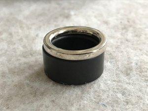 Calvin Klein Ring, Silber & Holz, ungetragen, 17,7 mm/K7