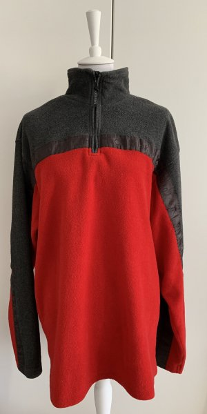 Calvin Klein Jeans Pullover in pile antracite-rosso