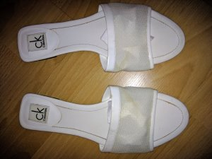 Calvin Klein Sandales confort blanc
