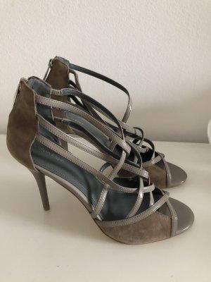 Calvin Klein Sandalen 41 braun taupe khaki High Heels Pumps Sandaletten