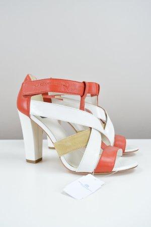 Calvin Klein Sandaletten Echtleder weiß Größe 37