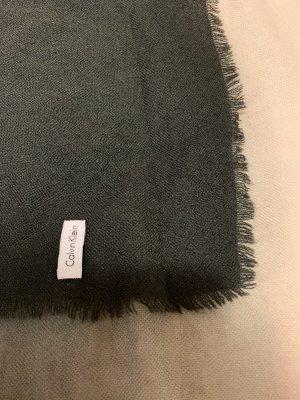 Calvin Klein Bufanda de lana gris-blanco puro
