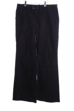 Calvin Klein Broek met wijd uitlopende pijpen zwart casual uitstraling