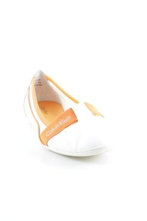 Calvin Klein Slip-on blanc-orange style décontracté